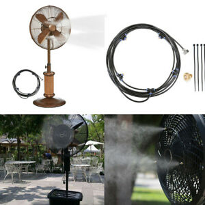 Misting Cooling System Fan Cooler Patio Garden Water Mister Mist Nozzles 5M