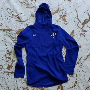 Under Armour Blue Team USA Women's Gymnastics Hoodie 1 4 zip Jacket Size XS NEW $11.70