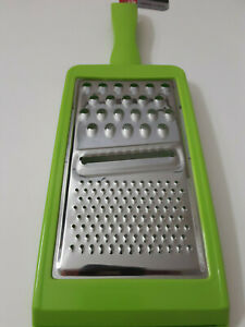 Hand Held Light Green and Silver Cheese Grater Lemon Lime Zester Food Slicing