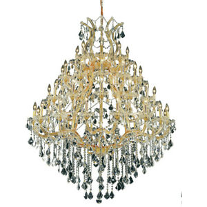 ASFOUR CRYSTAL CHANDELIER GOLD MARIA THERESA QUALITY FOYER LIGHTING 49-LIGHT 62