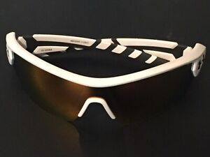 Under Armour Rival Shield Sunglasses, Satin White Charcoal Gray 8600090 110941 $89.95