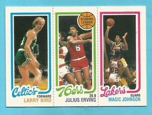 LARRY BIRD JULIUS ERVING MAGIC JOHNSON 1996 Topps Stars Reprint Rookie #22