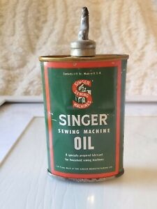 Vintage Singer Sewing Machine Oil Can Tin $35.60
