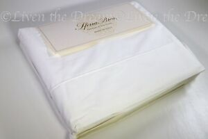 Sferra 100% Egyptian Cotton Cool Crisp Percale White Queen Sheet Set Italy