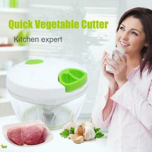 Kitchen Fruit Vegetable Onion Garlic Cutter Food Speedy Chopper Spiral Cutter