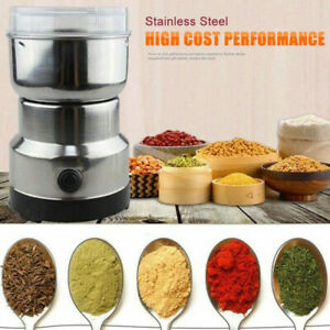 Electric Spice Coffee Nut Seed Herb Grinder Crusher Mill Blender Steel 110V