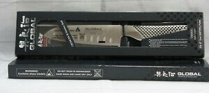 GLOBAL 18 CROMOVA Stainless Steel Knife GS-37 - 13cm SANTOKU Fluted Knife  - NEW