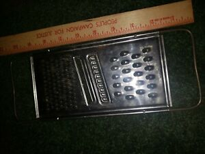 Vtg EKCO Flat Shredder Grater 4 In 1 Stainless w Wire Handles Fine Coarse Slice