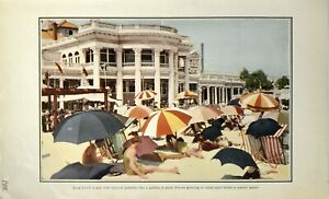 1911 Chromolithograph of Long Beach in the Summer $9.99