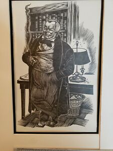 2 vintsge lithographs by Fritz Eichenberg from 1930s $99.00