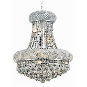 MADE WITH SWAROVSKI CRYSTAL QUALITY CHANDELIER PENDANT FRENCH EMPIRE 8-LIGHT 20
