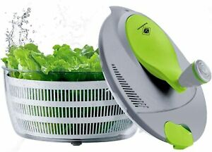 Salad Spinner 4 Quarts Quick Vegetables Dryer BPA Free Drain Lettuce and Vegetab