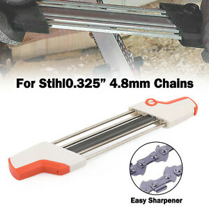 2 IN 1 Chainsaw Teeth Quick Sharpener File For STIHL .325quot; 4.8mm Chain $18.99