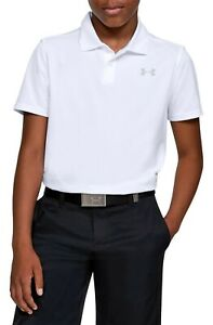 Under Armour Boy's Performance 2.0 Golf Polo Shirt Size Small 1342083 100 $19.99