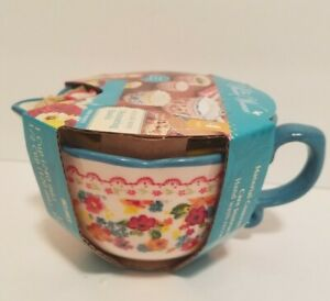 Pioneer Woman 4 pc Nesting Measuring Cups/-Bowls  Wildflower Whimsy NEW