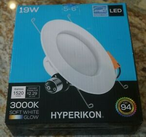 Hyperikon 5/6 LED Downlight 19W Dimmable 3000K Soft White Glow Recessed