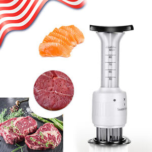 Professional Sauce Marinade Injector Meat Tenderizer Stainless Steel Needle Tool