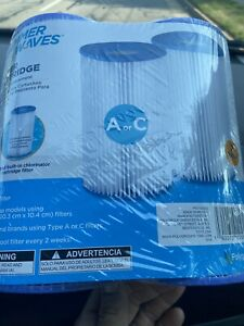 Summer Waves Type A/C Replacement Pool Filter Cartridge Pack of 2 Fast Ship NEW