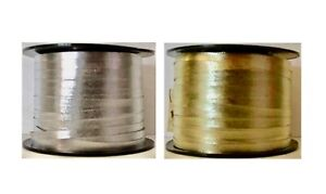 Curling Ribbon Embossed GOLD or SILVER Crimped 3/16