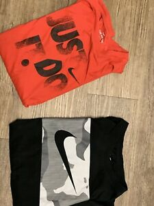 2 Nike Shirts For Men Red And Black Small Just Do It $12.99