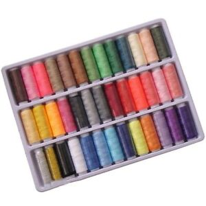 Polyester Spool Sewing Thread for Sewing Hand Machine Needles 39 Colors New US $7.72