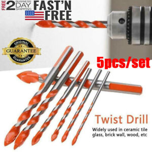 5 x Multifunctional Drill Bits Ceramic Glass Punching Hole Working Tool 6-12mm