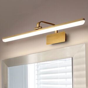 Brass Modern Bathroom Vanity LED Light Front Mirror Toilet Wall Lighting Fixture