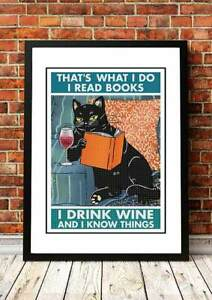 CAT #x27;I Know Things#x27; Wall Art Posters 18 to choose from Framed or Unframed AU $79.99