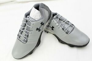 New Men's Under Armour Match Play Golf Shoes Gray Size US 10.5 Medium $17.50