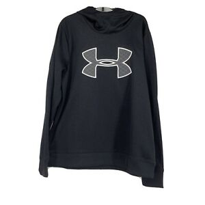 Under Armour Womens NEW Logo Black Hoodie Size Large Athletic Warm 0960 $23.99