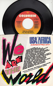 MICHAEL JACKSON BOB DYLAN BILLY JOEL STEVIE WONDER WE ARE THE WORLD 45 WPS