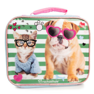 Kids Insulated Soft Lunch Bags Lunchbox Cooler Container Zipper Boys Girls Cute