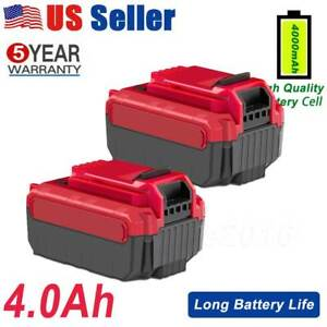 2X For PORTER CABLE PCC685L 20V MAX Lithium PCC680L 4.0Amp Hour Drill Battery O $32.99