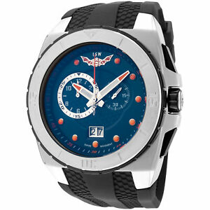 ISW Mens Infinity Swiss ISW 1009 02 54mm Blue Dial Rubber Chronograph Watch $31.90