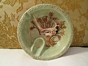 VINTAGE 1960s HP LARGE PIPE CIGAR CIGARETTE ASHTRAY High Relief PHEASANT $24.99