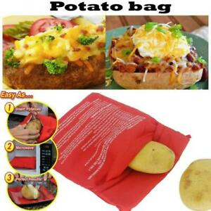 4 Pack Potato Microwave Baked Cooking Bag Corn Cooker Express Reusable 4minutes