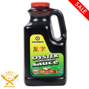 5 lb. Kikkoman Preservative Free Natural Oyster Flavored Asian style Sauce New