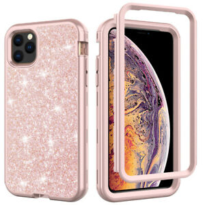 For iPhone 11 Pro Max XR 8 7 Plus Bling Glitter Girl Women Cute Phone Case Cover