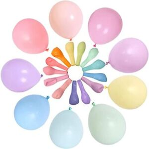 100 Pack Inch Thick Mixed Color Balloon Multicolored Big Macaron Latex Balloons