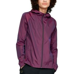 Under Armour Womens Purple Iridescent Hooded Athletic Jacket Top L BHFO 1995 $29.25