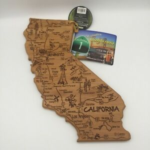 TOTALLY BAMBOO Destination CALIFORNIA CUTTING & SERVING Board LASER ETCHED
