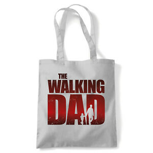 The Walking Dad Tote Funny TV Movie Reusable Shopping Canvas Bag Gift
