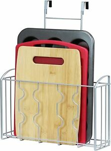 Over the Cabinet Cutting Board and Bakeware Door Organizer Holder For Kitchen