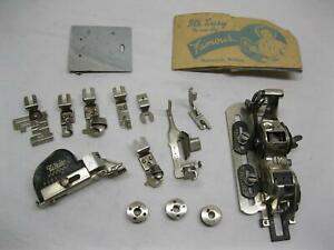 Famous Buttonhole Worker Sewing Vintage Old Singer Attachments White Parts Lot $24.99
