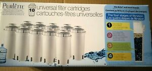 10 BRITA COMPATIBLE PURLETTE UNIVERSAL WATER FILTER CARTRIDGES