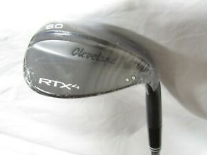 New Cleveland RTX 4 Black 60* Wedge 60.09 Tour Issue S400 Stiff flex Steel RH
