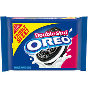 NEW NABISCO FAMILY SIZE DOUBLE STUF OREO CHOCOLATE SANDWICH COOKIES 20 OZ PACK