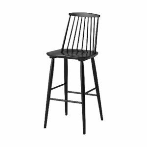 Harwich High Back Windsor Barstool Simple Style with Spindle Back Threshold