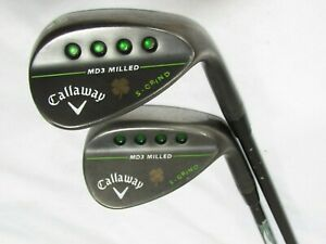 Callaway MD3 Milled Black 56* 60* Wedge Set Tour Issue S200 Stiff Steel Used RH