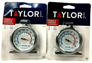 Lot of (2) TAYLOR PRECISION 3507 Freezer-Refrigerator Thermometer, -20 F to 80 F